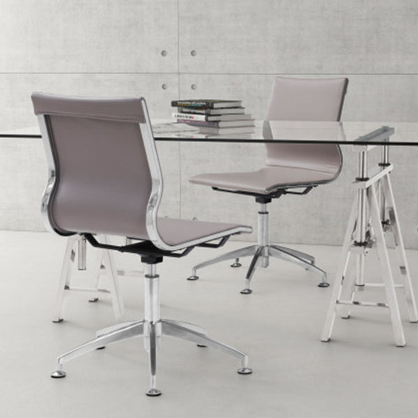 "26"" X 26"" X 36"" Taupe Leatherette Conference Chair"