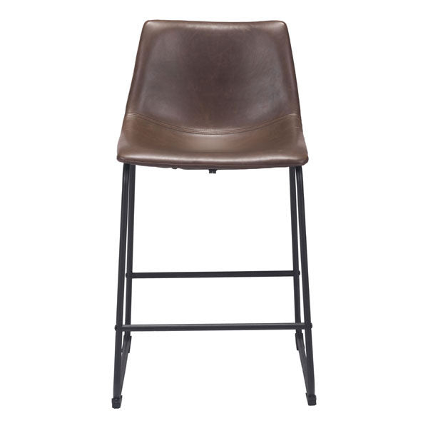 "19"" X 21.3"" X 34.7"" Espresso Vintage Leatherette Counter Chair"