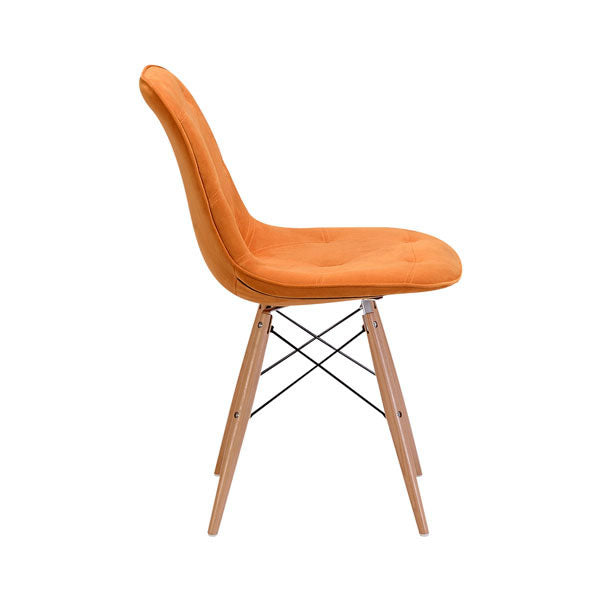 "18.7"" X 21.7"" X 31.9"" Orange Velour Dining Chair"