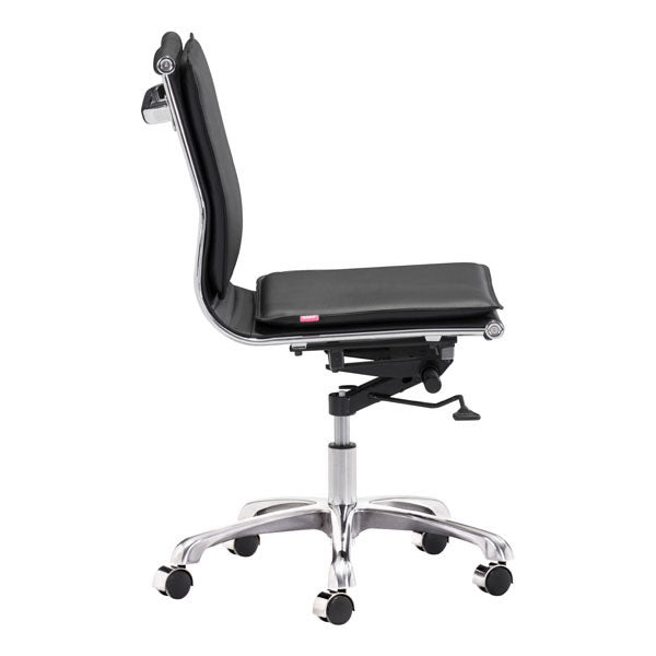 "23"" X 23"" X 40"" Black Leatherette Armless Office Chair"