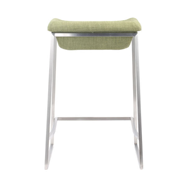 "15.7"" X 18"" X 25.6"" 2 Pcs Green Polyblend Counter Stool"
