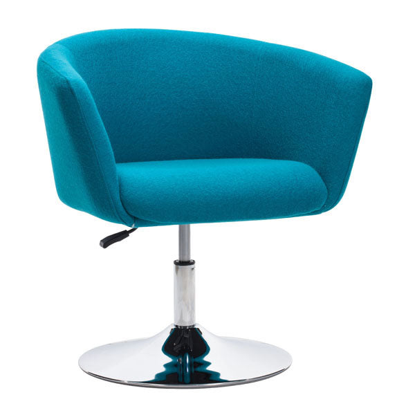 "28"" X 24.8"" X 30.8"" Island Blue Polyblend Arm Chair"