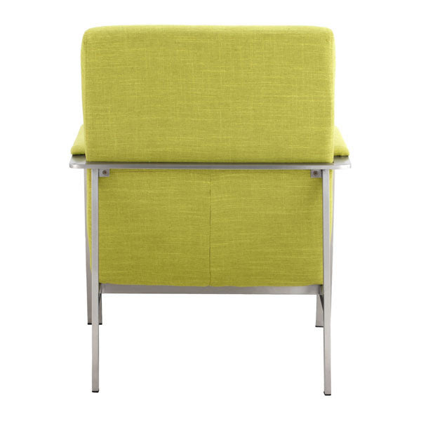 "26"" X 31.5"" X 33.5"" Lime Polyblend Arm Chair"