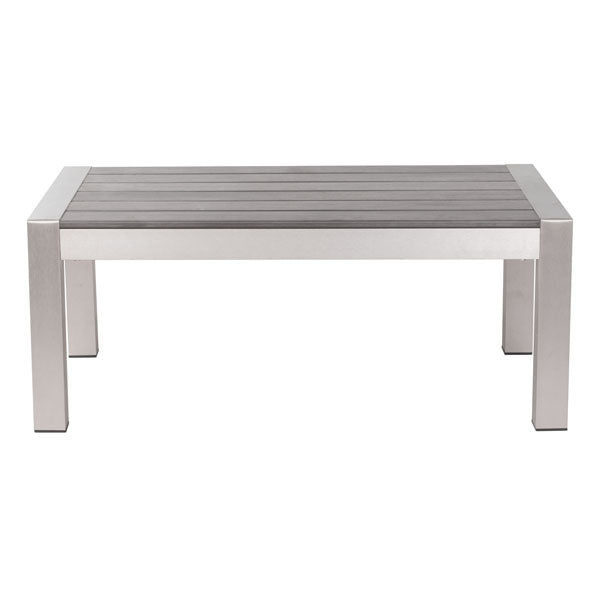 "47"" X 23.6"" X 15.2"" Cocoa Tempered Glass Coffee Table"