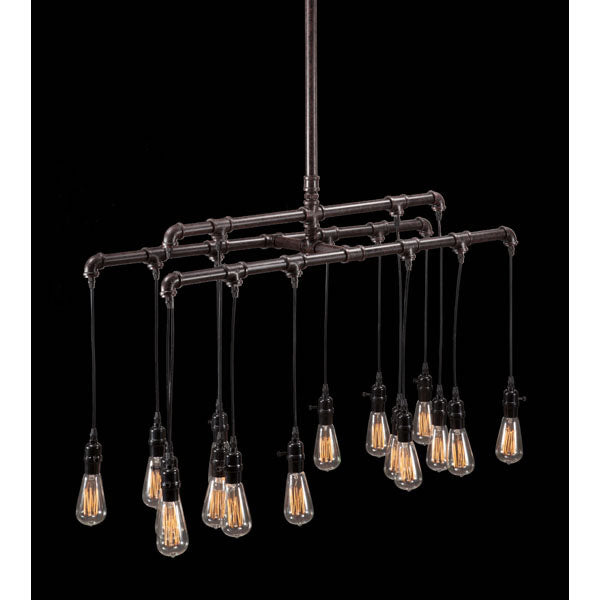 "42"" X 13"" X 63"" Steel Metal Ceiling Lamp"