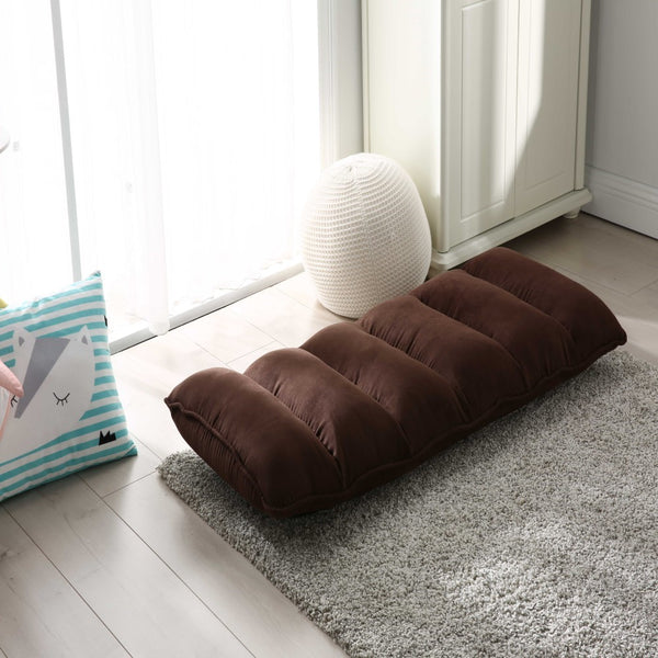 Brown Modern Adjustable Fabric Gaming Chaise Lounge Chair