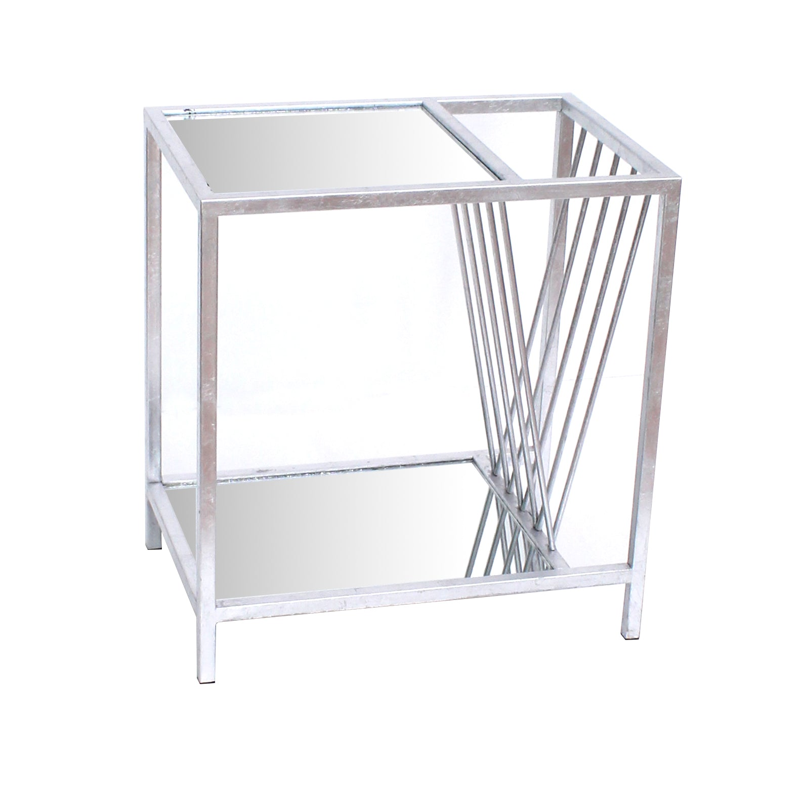 "15"" x 23"" x 24"" Silver, Metal- End Table"