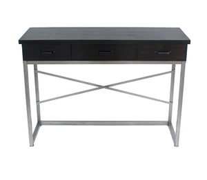 "16"" x 45"" x 32"" Charcoal, 3 Drawer - Console Table"