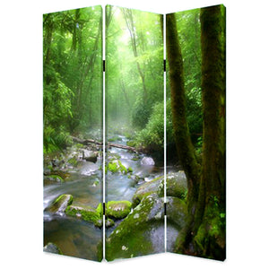 "1"" x 48"" x 72"" Multi-Color, Wood, Canvas, Meadows And Streams - Screen"