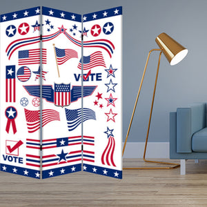 "1"" x 48"" x 72"" Multi-Color, Wood, Canvas, Vote - Screen"
