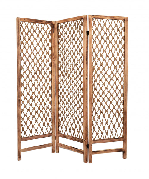 "1"" x 60"" x 69"" Natural Rope Wooden - Screen"