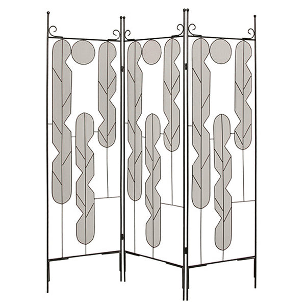 "1"" x 58"" x 71"" Black, Iron Art - Screen"