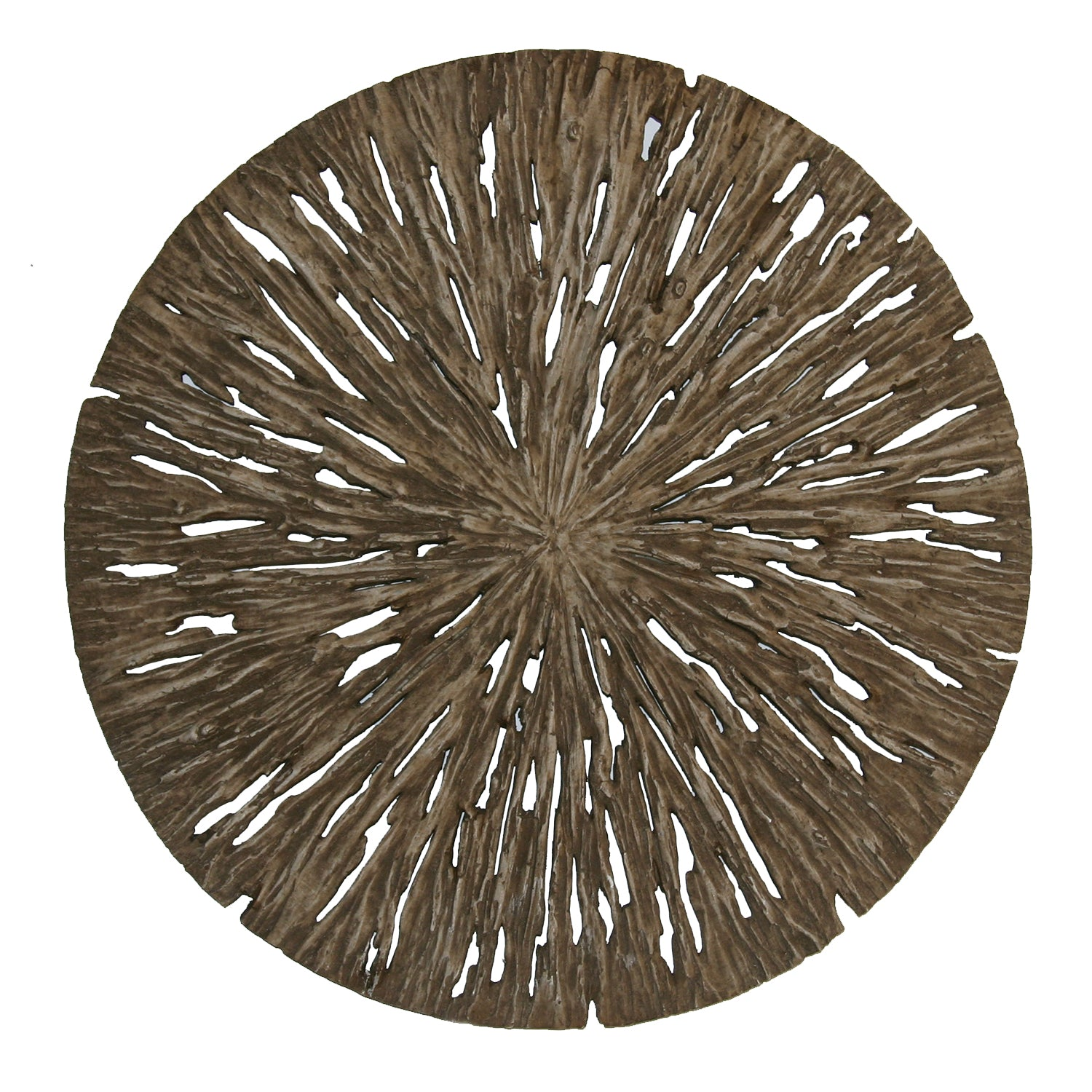 "1"" x 28"" x 28"" Brown, Round, Rotten Wood - Wall Decor"