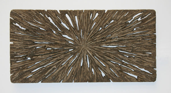 "1"" x 20"" x 40"" Brown, Long Square, Rotten Wood - Wall Decor"