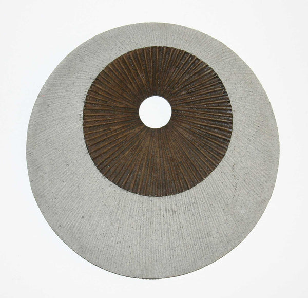 "1"" x 26"" x 26"" Brown & Gray, Round, Double Layer Ribbed - Wall Decor"