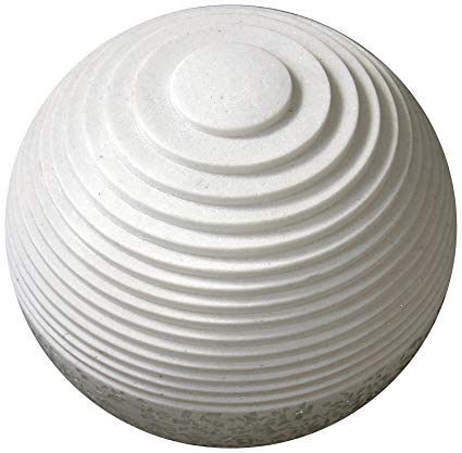 "1"" x 14"" x 12"" White, Round With Lines And Light - Outdoor Ball"