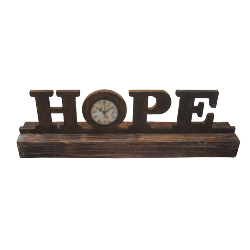 "1"" x 23"" x 3"" Brown, Wood Decor - Clock"