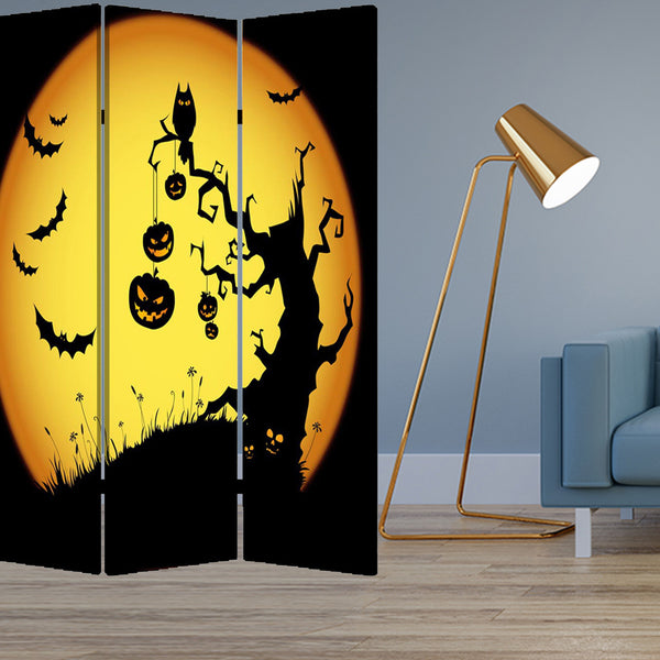 "1"" x 48"" x 72"" Multi-Color, Wood, Canvas, Halloween - Screen"
