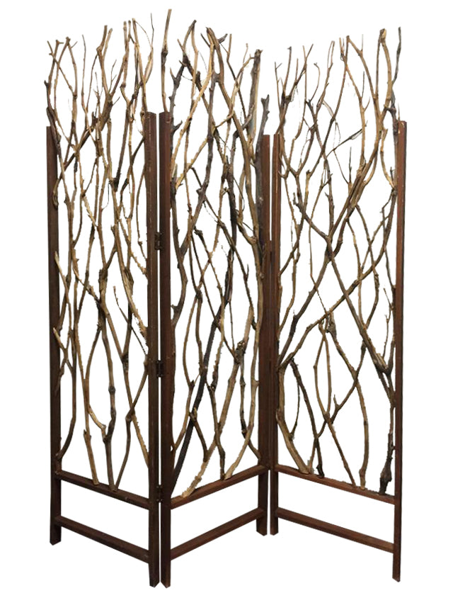 "1"" x 58"" x 70"" Brown, Wood Tree - Screen"