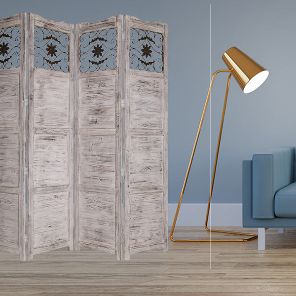 "1"" x 76"" x 84"" White, Wood- Screen"