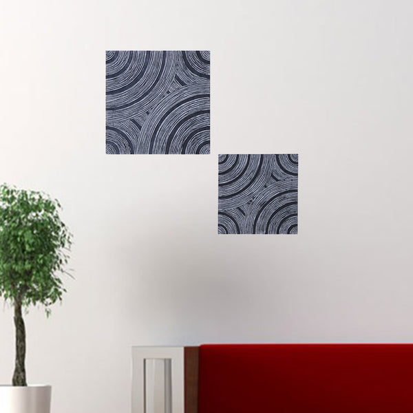 "1"" x 17"" x 17"" Gray, Lined Square - Wall Decor"