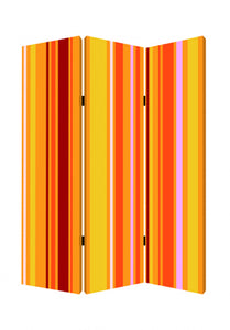 "1"" x 48"" x 72"" Multi-Color, Wood, Canvas, Deep Saffron - Screen"