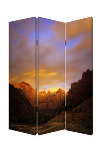 "1"" x 48"" x 72"" Multi-Color, Wood, Canvas, Desert - Screen"