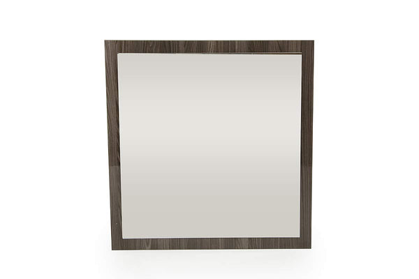 "41"" Grey MDF, Veneer, and Glass Mirror"