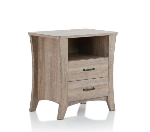 "24"" X 16"" X 24"" Rustic Natural Particle Board Nightstand"