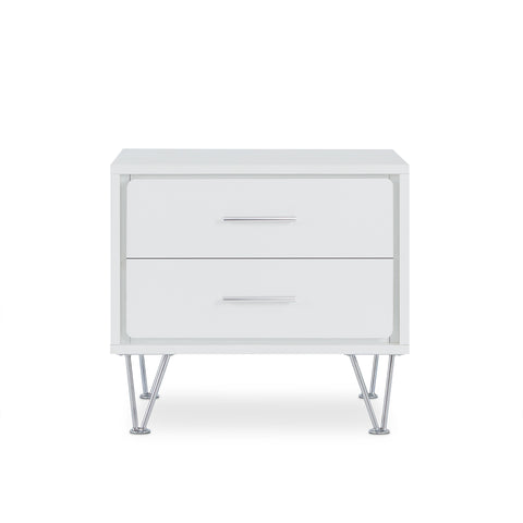 "19'.69"" X 15'.75"" X 17'.93"" White Particle Board Nightstand"