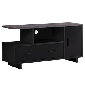 "15'.5"" x 47'.25"" x 23'.75"" Black-Grey Top With Storage - Tv Stand"