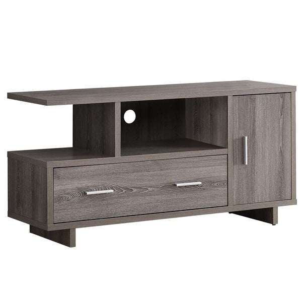 "15'.5"" x 47'.25"" x 23'.75"" Dark Taupe With Storage - Tv Stand"