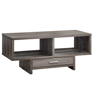 "17'.75"" x 42'.25"" x 18"" Dark Taupe With Storage - Coffee Table"