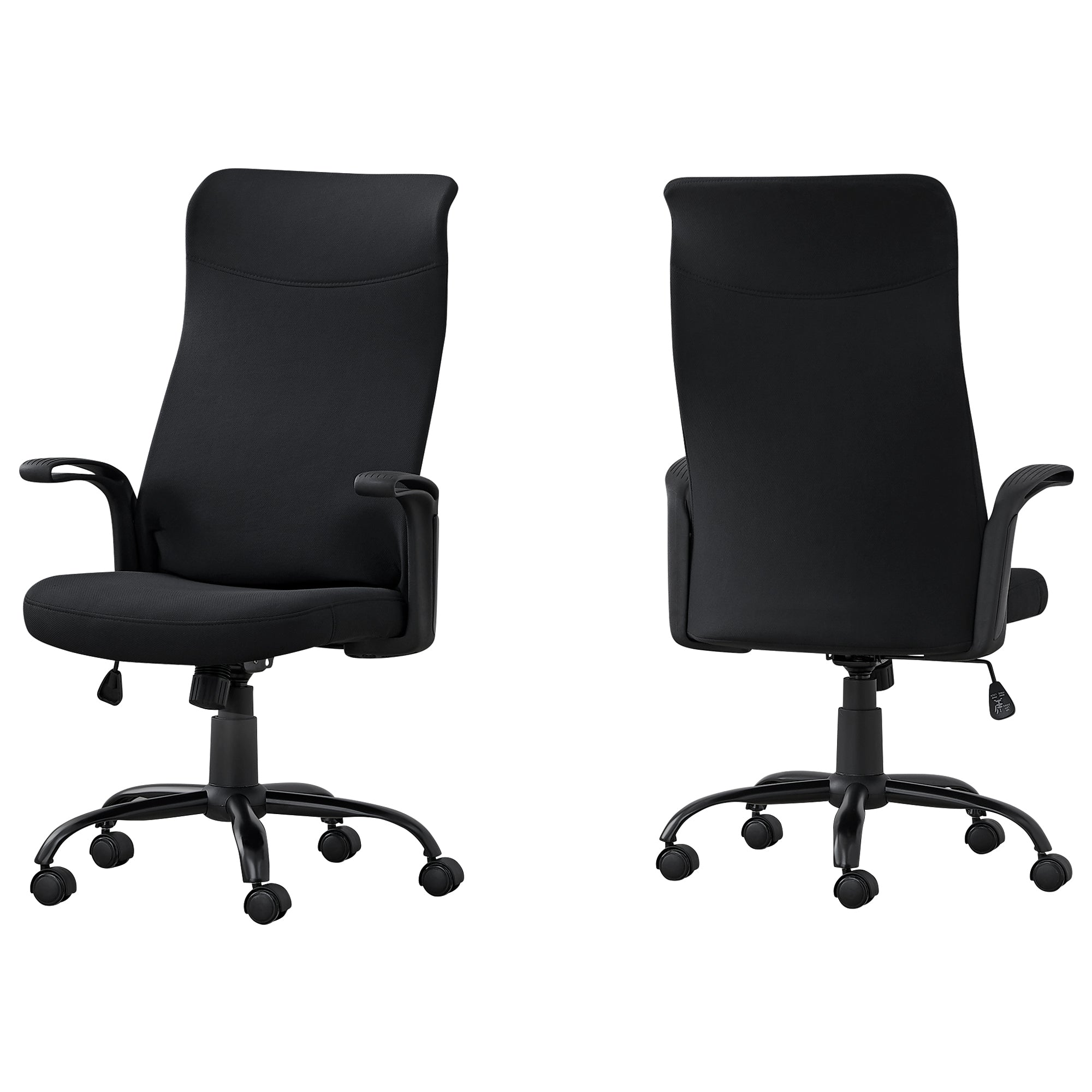 "24'.75"" x 24"" x 83'.5"" Black-Black, Fabric Multi Position - Office Chair"