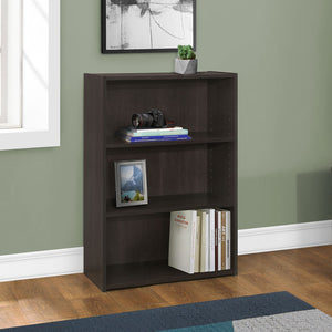 "11'.75"" x 24'.75"" x 35'.5"" Cappuccino, 3 Shelves - Bookcase"