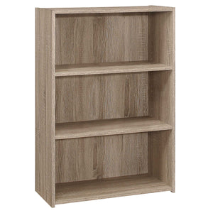 "11'.75"" x 24'.75"" x 35'.5"" Dark Taupe, 3 Shelves - Bookcase"