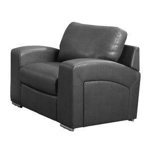"35"" x 39"" x 36"" Charcoal, Grey Bonded Leather - Chair"