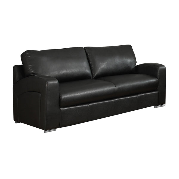 "35"" x 66"" x 36"" Black, Bonded Leather - Love Seat"