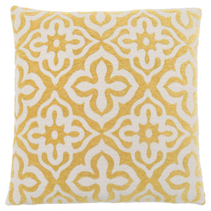 "18"" x 18"" Yellow, Motif Design - Pillow"