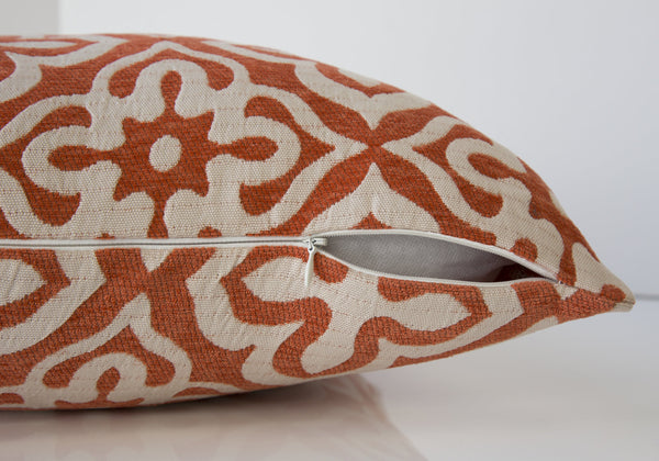 "18"" x 18"" Orange, Motif Design - Pillow"