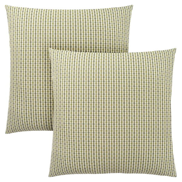 "18"" x 18"" Light-Dark Green, Abstract Dot - Pillow 2pcs"