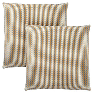 "18"" x 18"" Gold-Grey, Abstract Dot - Pillow 2pcs"