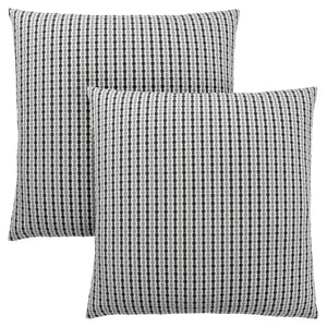 "18"" x 18"" Light Grey-Black, Abstract Dot - Pillow 2pcs"