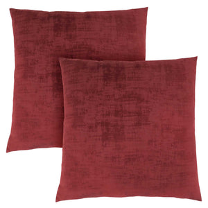 "18"" x 18"" Red, Brushed Velvet - Pillow 2pcs"