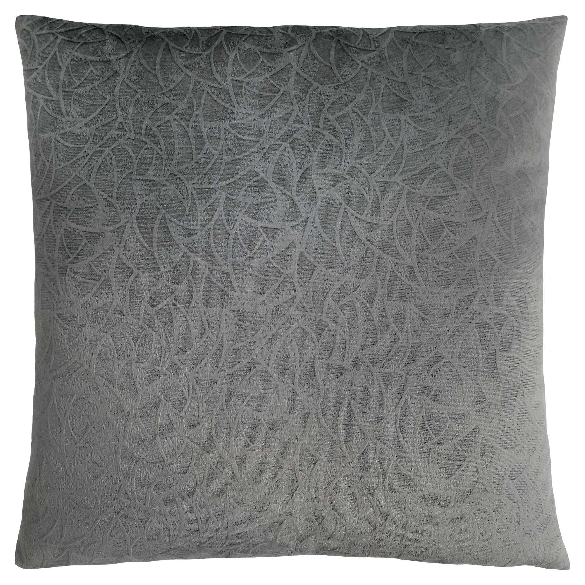 "18"" x 18"" Dark Grey, Floral Velvet - Pillow"