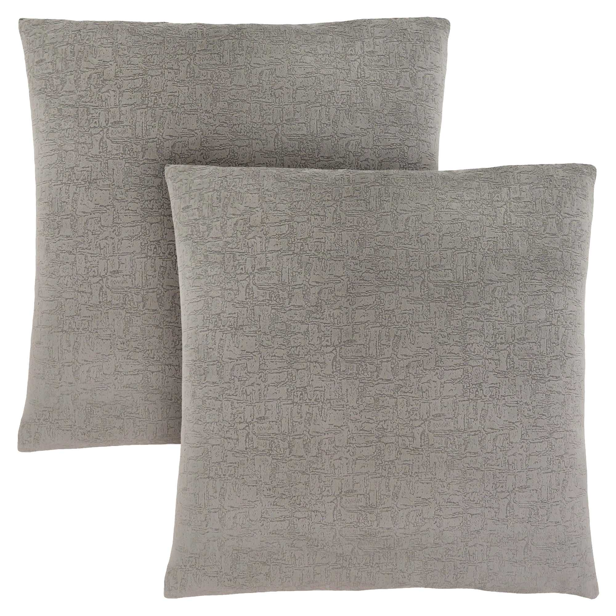 "18"" x 18"" Grey, Mosaic Velvet - Pillow 2pcs"