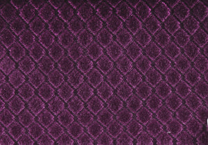 "18"" x 18"" Purple, Diamond Velvet - Pillow 2pcs"