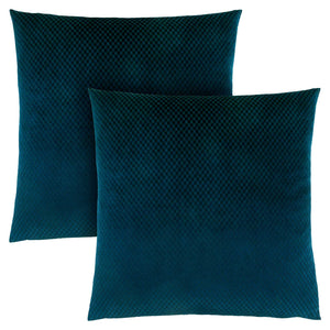 "18"" x 18"" Steel Blue, Diamond Velvet - Pillow 2pcs"