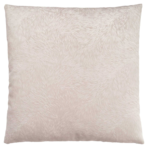 "18"" x 18"" Light Taupe, Feathered Velvet - Pillow"