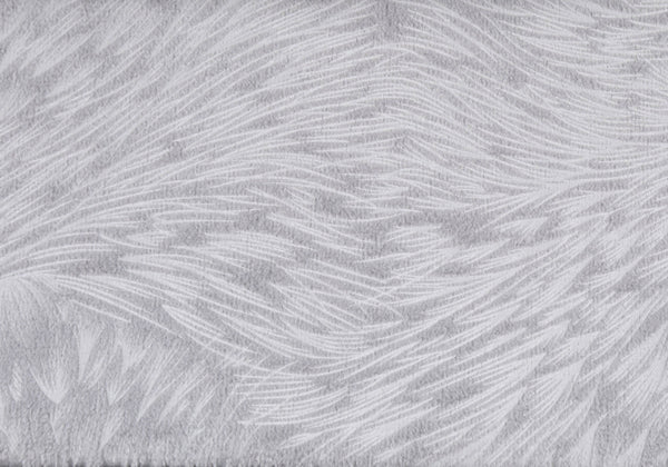 "18"" x 18"" Light Grey, Feathered Velvet - Pillow"